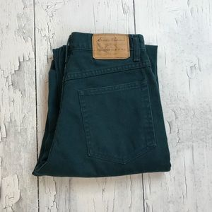 Vintage Eddie Bauer high waist jeans 4 Dark green